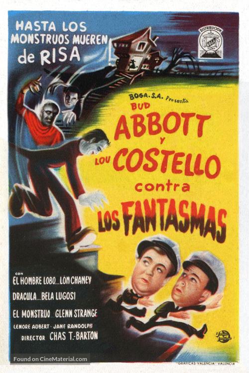 Bud Abbott Lou Costello Meet Frankenstein - Spanish Movie Poster