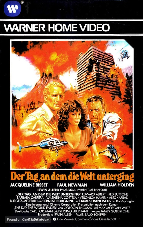 When Time Ran Out... - German VHS movie cover