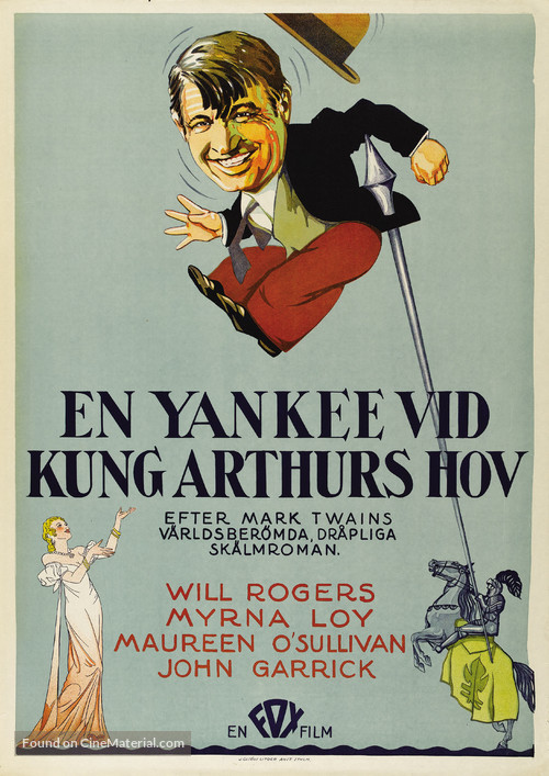A Connecticut Yankee - Swedish Movie Poster