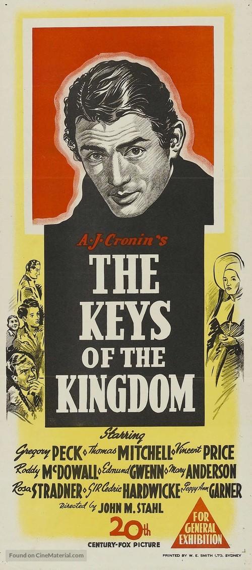 The Keys of the Kingdom (1944) Australian movie poster