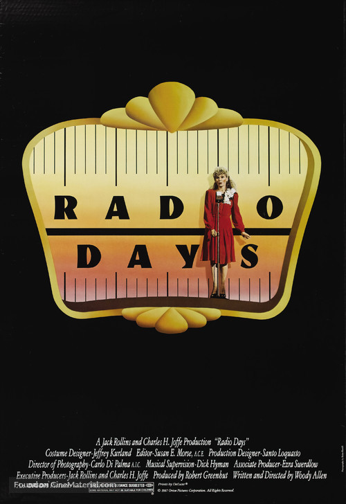Radio Days - Movie Poster