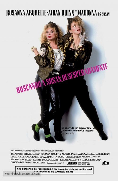 Desperately Seeking Susan - Spanish Movie Poster