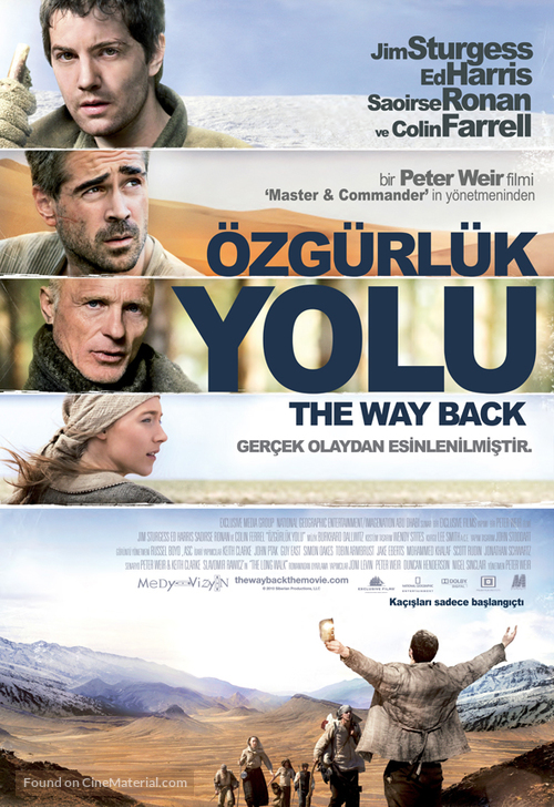 The Way Back - Turkish Movie Poster