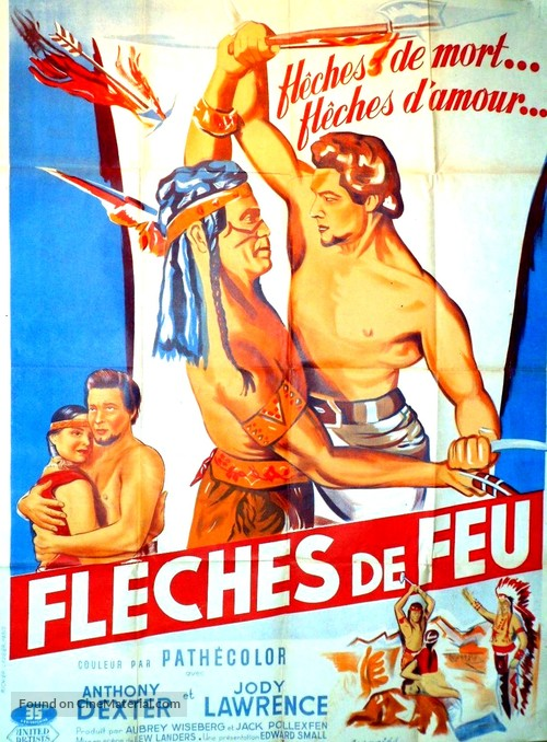 Captain John Smith and Pocahontas - French Movie Poster