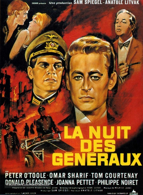 The Night of the Generals - French Movie Poster