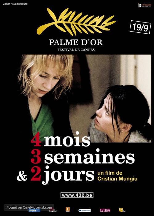 4 luni, 3 saptamini si 2 zile - Belgian Movie Poster