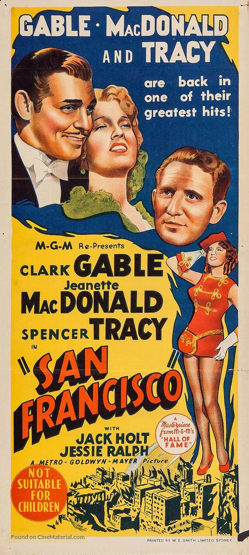 San Francisco - Australian Movie Poster