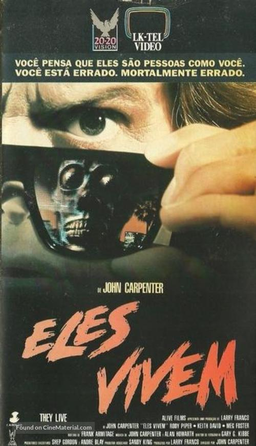 They Live - Brazilian VHS movie cover