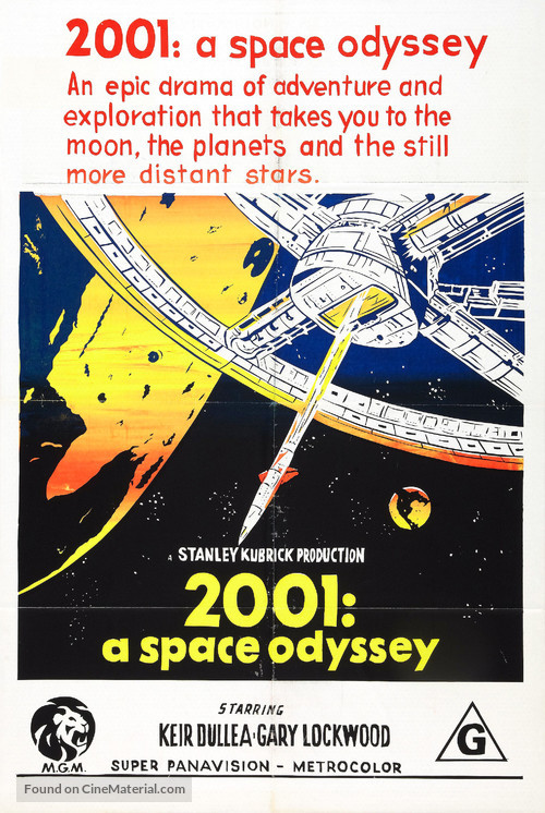 2001: A Space Odyssey - Australian Movie Poster
