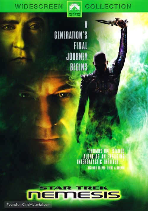 Star Trek: Nemesis - DVD movie cover