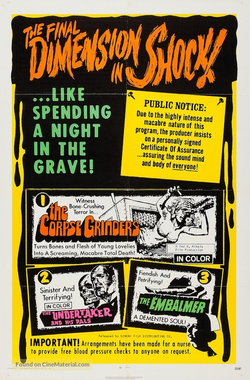 The Corpse Grinders - Combo movie poster