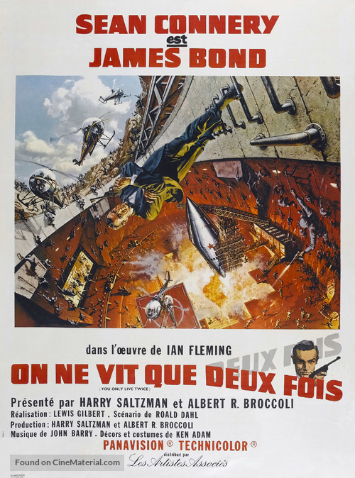 You Only Live Twice - French Movie Poster
