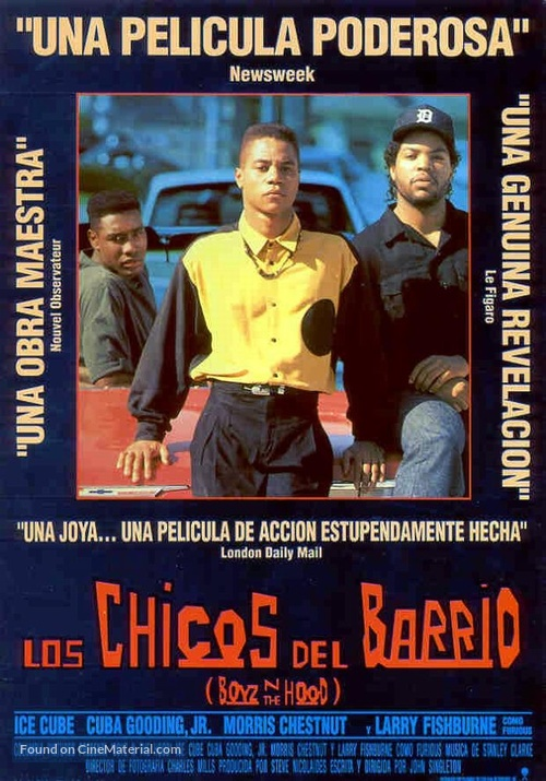 Boyz N The Hood - Spanish Movie Poster
