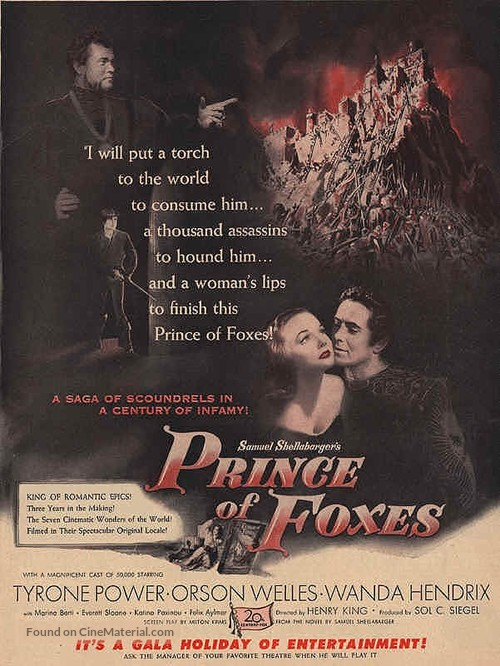 Prince of Foxes - Movie Poster