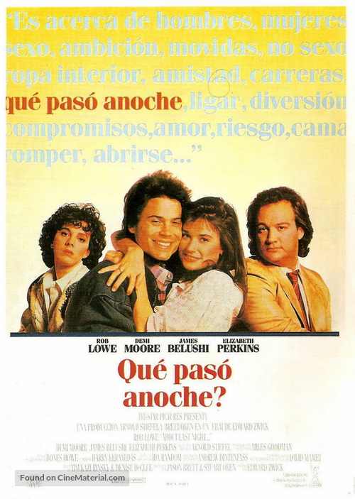 About Last Night... - Spanish Movie Poster