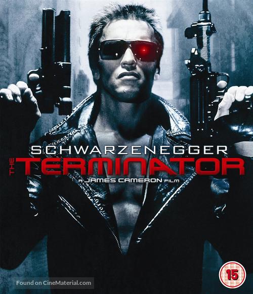 The Terminator - British Blu-Ray movie cover
