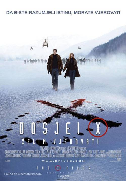 The X Files: I Want to Believe - Croatian Movie Poster