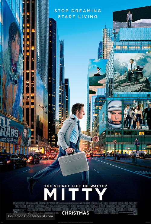 The Secret Life of Walter Mitty - Mexican Movie Poster