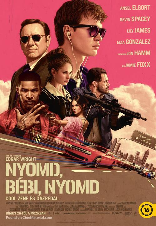 Baby Driver - Hungarian Movie Poster