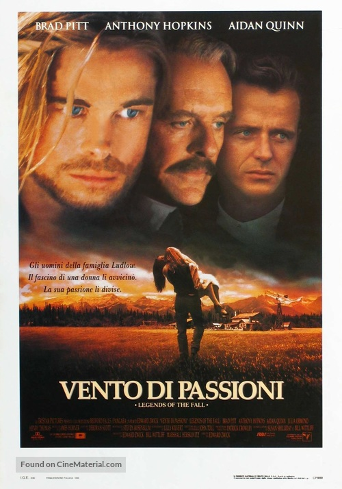 Legends Of The Fall - Italian Movie Poster