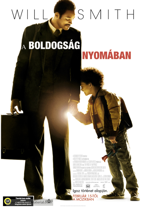 The Pursuit of Happyness - Hungarian Movie Poster
