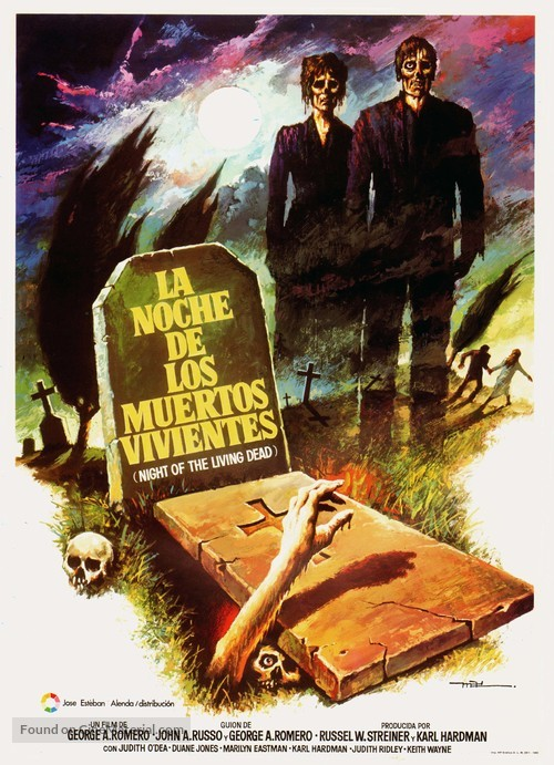 Night of the Living Dead - Spanish Movie Poster