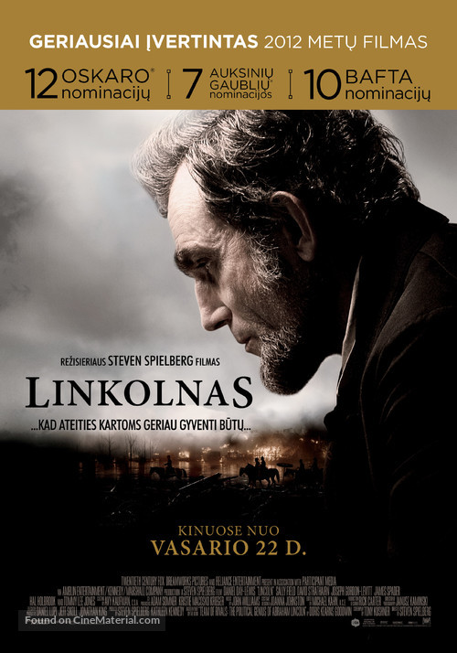 Lincoln - Lithuanian Movie Poster
