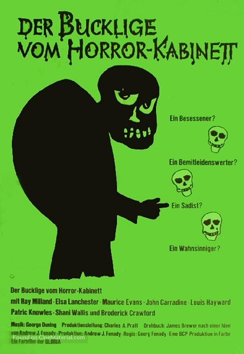 Terror in the Wax Museum - German Movie Poster