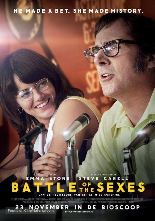 Battle of the Sexes - Dutch Movie Poster
