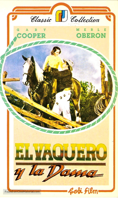 The Cowboy and the Lady - Argentinian VHS movie cover