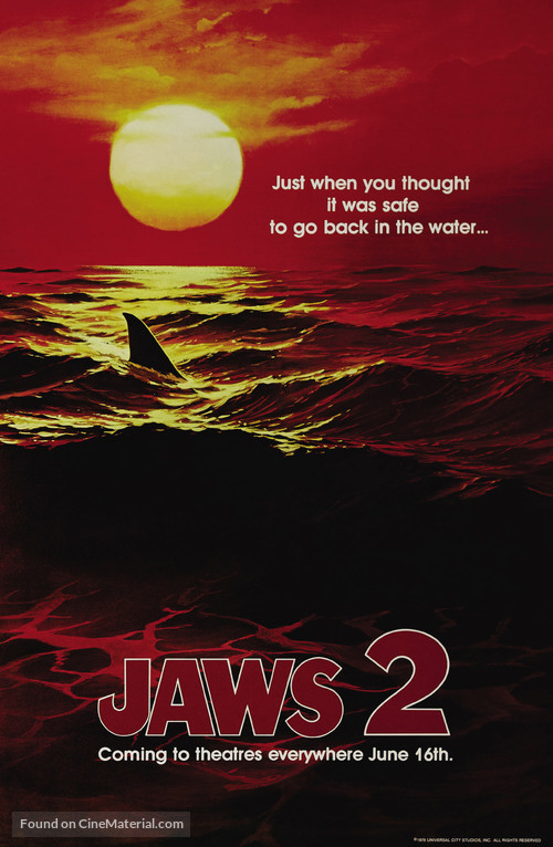 Jaws 2 - Teaser movie poster