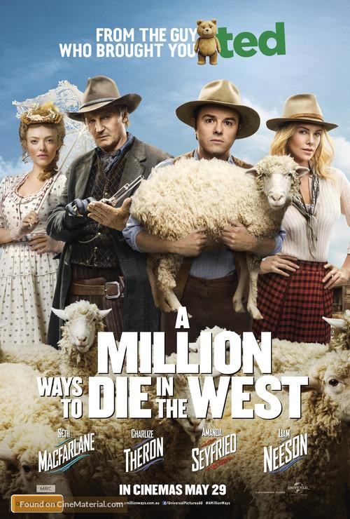 A Million Ways to Die in the West - Australian Movie Poster