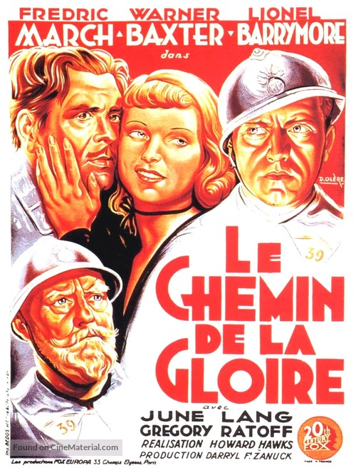 The Road to Glory - French Movie Poster