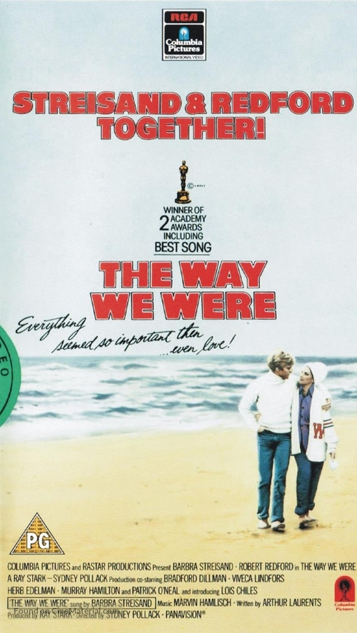 The Way We Were - British VHS movie cover