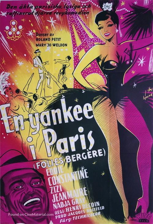 Folies-Bergère - Swedish Movie Poster
