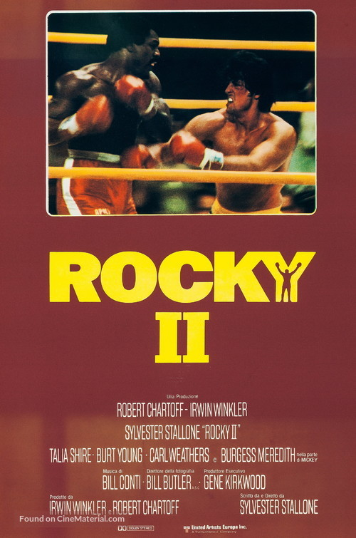 Rocky II - Italian Movie Poster