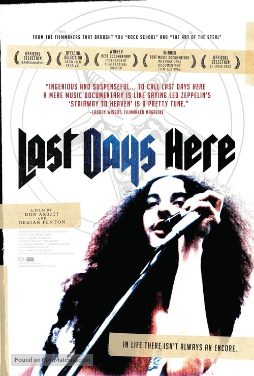 Last Days Here - Movie Poster