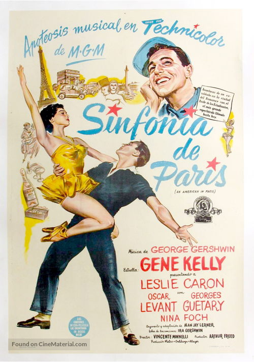 An American in Paris - Argentinian Movie Poster