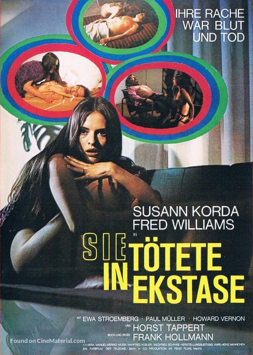 Sie tötete in Ekstase - German Movie Poster