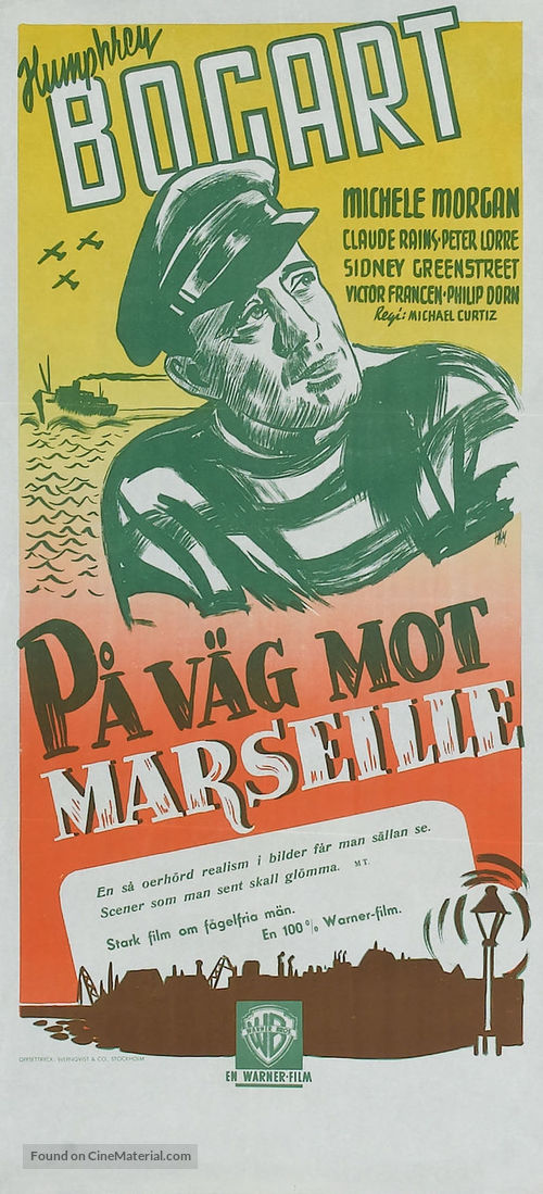 Passage to Marseille - Swedish Re-release movie poster