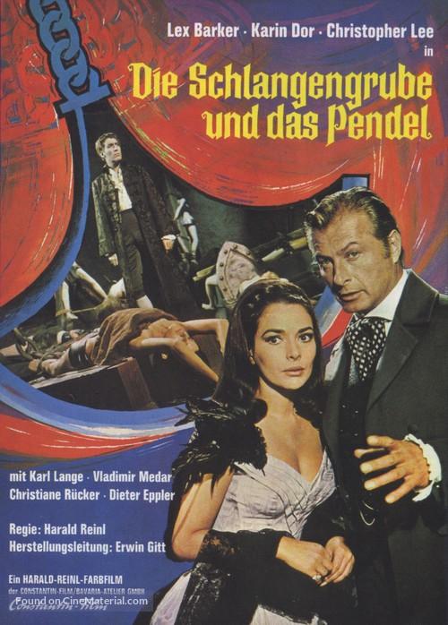 Die Schlangengrube und das Pendel (1967) German movie poster
