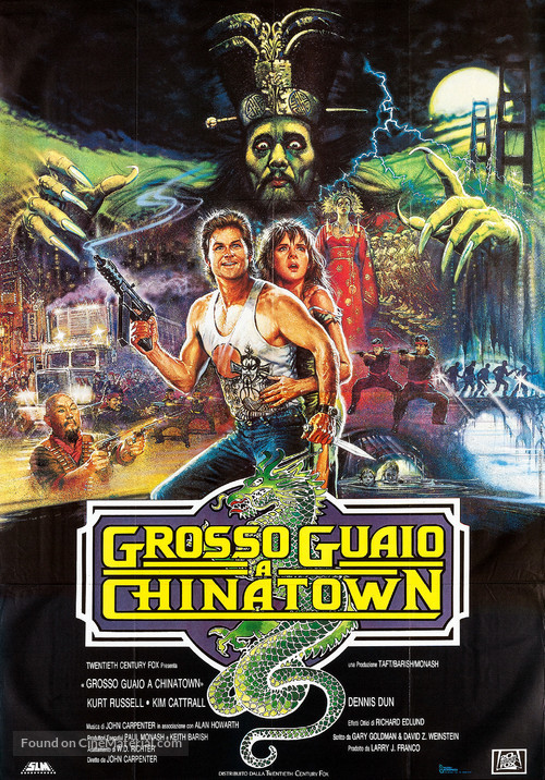 Big Trouble In Little China - Italian Movie Poster