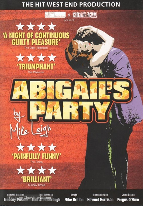 """""""Play for Today"""" Abigail's Party - British Movie Cover"""