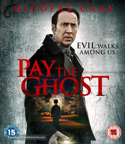 Pay the Ghost - British Blu-Ray movie cover