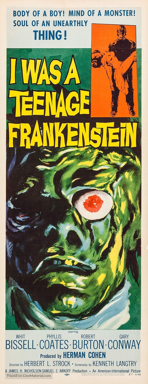 I Was a Teenage Frankenstein - Movie Poster
