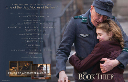 The Book Thief - For your consideration movie poster