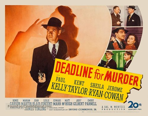 Deadline for Murder - Movie Poster