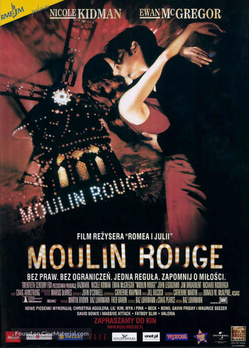 Moulin Rouge - Polish Movie Poster