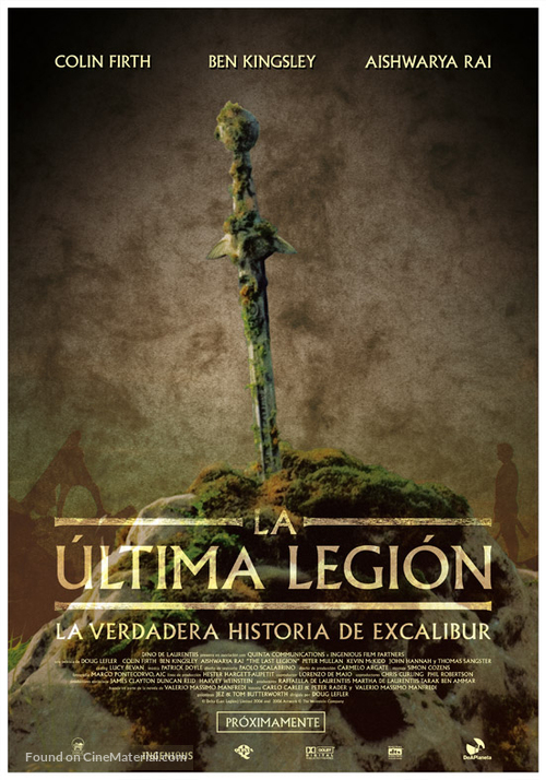 the last legion spanish movie poster