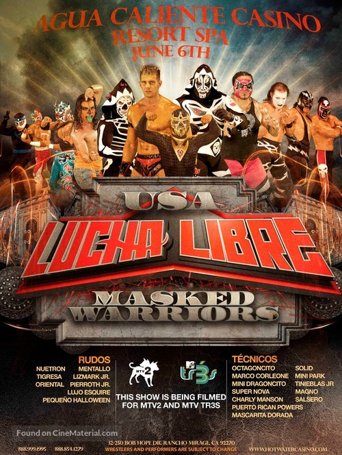 """""""Lucha Libre USA: Masked Warriors"""" - Movie Poster"""